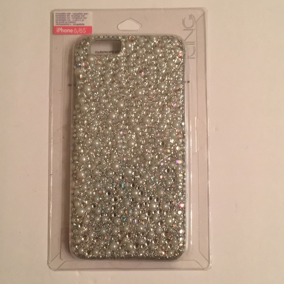 Icing Accessories - iPhone case 6/6S with small rhinestones and pearl